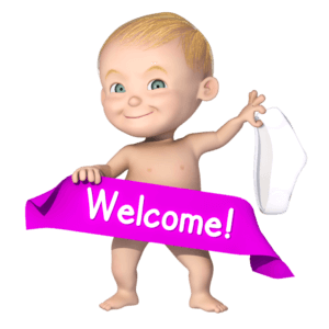 Welcome to Dedipic first image with Cartoon Baby
